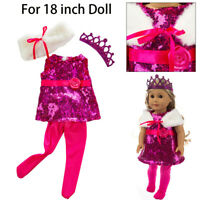 Cute Fashion Printing Dress 18 Inch Accessory Girl's Toy Doll Accessory For Girl