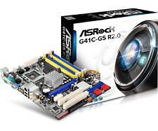 ASRock G41C-GS R2.0 Motherboard Socket 775 DDR2 DDR3 SATA 2.0 USB 2.0 MicroATX
