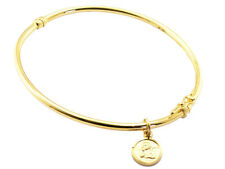 9ct Yellow Solid GOLD Angel Charm Bangle/Bracelet UK + FREE Gifts