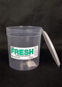 24x 1L Keep Fresh Round Plastic Container Food Storage Freezer Pantry #4293