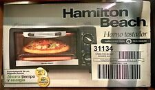 New in original packaging++ Hamilton Beach 4 Slice Toaster/Pizza Oven . blk/slvr