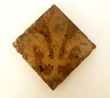 RARE MEDIEVAL FLOOR TILE, English, slip-decorated and  lead-glazed, 14th Century