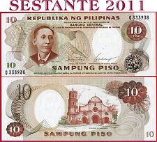 PHILIPPINES - FILIPPINE - 10 PISO nd 1969 Sign 7 - Prefix Q - P 144a - FDS / UNC