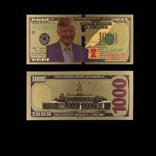 Gold Dollar Foil Money Paper Us 24k Donald Trump 1000 Usd Banknotes Bill Gifts