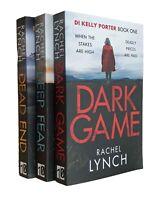 Rachel Lynch 3 Books Kelly Porter Thriller Mystery Dark Game Deep Fear End New