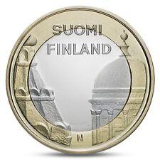 FINLAND FINLANDE 5 EURO PROVINCIAL BUILDINGS UUSIMAA HELSINKI CATHEDRAL 2012 UNC