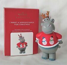 Hallmark 2020 I Want A Hippopotamus For Christmas Ornament with Music