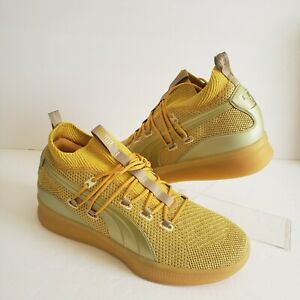 Puma Mens Clyde Court Disrupt Title Run Gold Basketball Shoes Size 11 192898-01