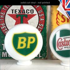 2x BP Oil Sticker Vinyl Decal British Petroleum Vintage Sticker 2507-0219