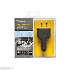 Targus Chargeur de voiture pour ordinateur portable et usb tablet slim & léger APD046EU
