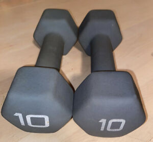 cap neoprene coated hex dumbbell 10lb; come as a pair; good condition