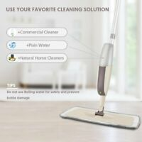 Magic Spray Floor Mop with 3 Reusable Microfiber Pads 360 Degree Handle Kit