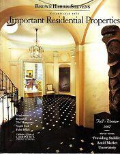 Brown Harris Stevens Important Residential Properties NYC Fall Winter 2007