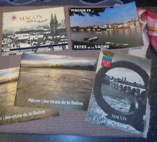 Lot de 4 recueils sur MÂCON /Les Crues et la Fète de la Sâone Tours et Alentours