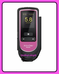 Accu Chek Mobile Blood Glucose Meter - LIMITED EDITION PINK - Single Unit Meter