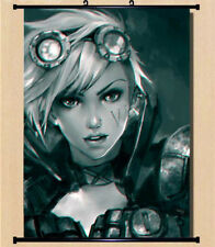 Home Decor Wall Scroll Poster LoL League of Legends Piltover Enforcer Vi 40*60cm