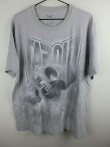 Tapout Mens T Shirt Size XL Crew Neck All Over Graphic Tee Skull Grey