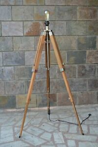Wooden Floor lamp Stand Tripod lamp Industrial Studio lamp stand Best for decor
