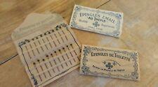Petite pochette d'épingles de toilette : Epingles Émail au Trèfle (vers 1900)