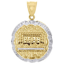 "Real 10K Yellow Gold Diamond Cut Apostles Last Supper Pendant Pendant Charm 1.5"""