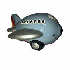 Rare Southwest Airlines Vintage Blue Piggy Bank Jet