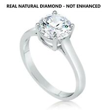 100% Natural Diamond Engagement Ring 18K White Gold 1/2 Ct D Vs2 Ideal Cut