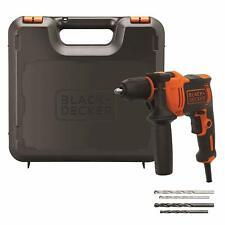 BLACK+DECKER BEH710K-QS Taladro Percutor con cable, 4 brocas y maletín incluidos