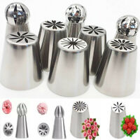 8 Pcs Set Stainless Steel Russian Piping Nozzles Set Flower Cake Decorating M8
