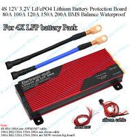 4S 12V 3.2V LFP LiFePO4 Lithium Battery Protection Board BMS Balance Waterproof