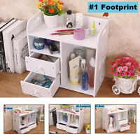 Table Drawer Storage Rack Makeup Shelf Organizer Stand Bookcase Container