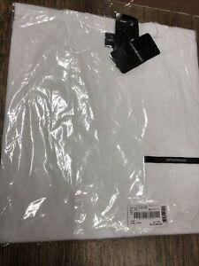 Emporio Armani Chest pocket T-shirt Size XXL White Brand New (F)