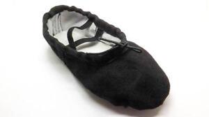 Black Canvas Ballet Gymnastic Yoga Split Sole Shoes
