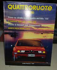 """QUATTRORUOTE Febbraio 1992 Alfa Romeo 155 1.8 Twinspark Confronto Tempra e """"405"""""""