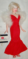 Marilyn Monroe World Doll Celebrity Series 1983 Red Dress Feather Boa with Tags