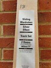 Home Decor Sliding wardrobe tracks. Silver effect. To fit 1803mm