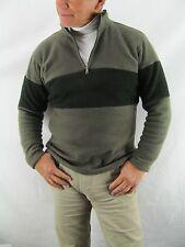 Perigee 1/4 Neck Zip Pull Over Green Black Fleece Shirt  Jacket,  Medium  NYZ9