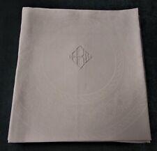 "Antique 4 Linen Damask Lapkins 27"" Ebg Monogram Millmarks Hand Hemmed Gorgeous!"