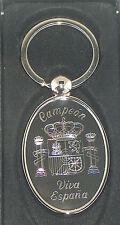 superbe porte clefs ovale en acier gravé personnalisé foot espagne champions