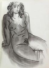 HENRI MATISSE LITHOGRAPH w/COA. sexy nude Vintage print 1952 Litógrafo RARE ART