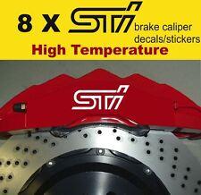 8 X STI Subaru Brake Caliper Decals Stickers Vinyl Emblem Graphics Car
