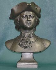 "BIG Very RARE ORIGINAL PETER I Soviet metal bust statue sc Klyushkin H=12.5"""