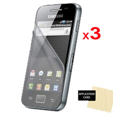 3 Pack CLEAR Screen Protector Guards for Samsung Galaxy Ace S5830 S5830i S5839i