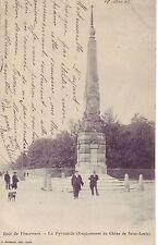 CPA 75 1908 PARIS le Bois de Vincennes  La Pyramide empl. du chêne de St Louis