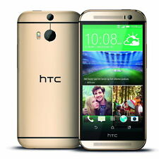 "HTC One m8 32gb Dual Kamera 5"" Display 4g Lte Entsperrt Brandneu Telefon (Gold)"