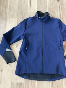 SUGOI Mens Large Navy Blue Jacket Cycling Bike Running Excellent Cond  Free Ship