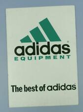 Shop Display Card For Adidas Sports Equipment Original 1980s