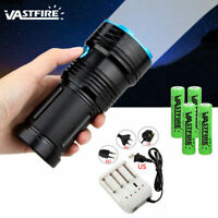 VASTFIRE 45000LM 12x XM-L T6 LED Flashlight Torch 4x 18650 Hunting Light Lamp UK