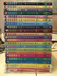 Ranma 1/2 English manga lot volumes 1-21, lovingly read, looks great