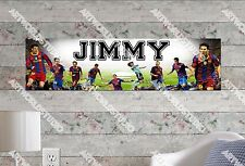 Personalized/Customized Balcelona FC Name Poster Wall Art Decoration Banner