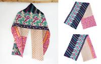Cotton Vintage Kantha Scarf Antique Sew Long Reversible Scarf Hijab Scarves
